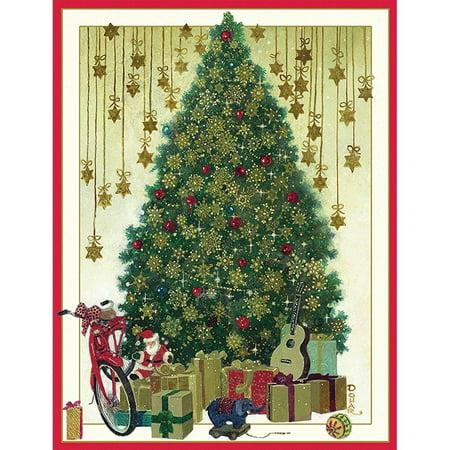 entertaining with caspari tree with gold snowflakestoys - Caspari Christmas Cards