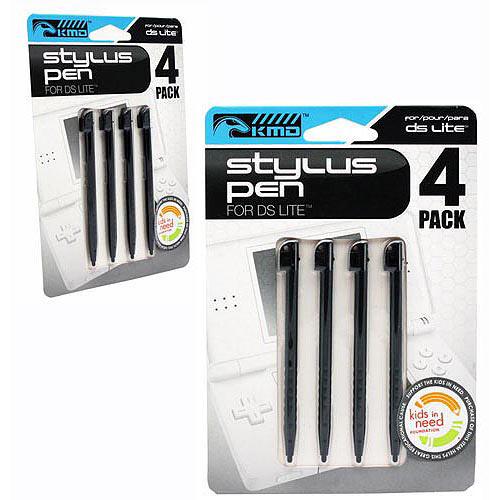 KMD Stylus Pen - Black, 4pk (DS Lite)