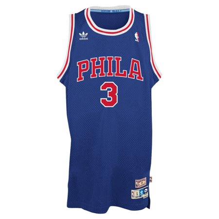 Allen Iverson Philadelphia 76ers Adidas NBA Throwback Swingman Jersey Blue by
