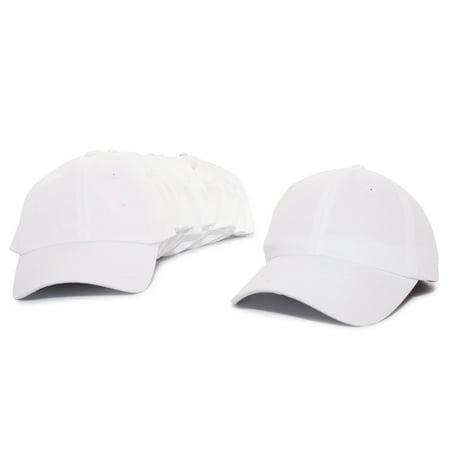 bfb967c995b DALIX Baseball Cap Mens Trucker Hat Dad Hats Caps for Women 12 PACK in  White - Walmart.com