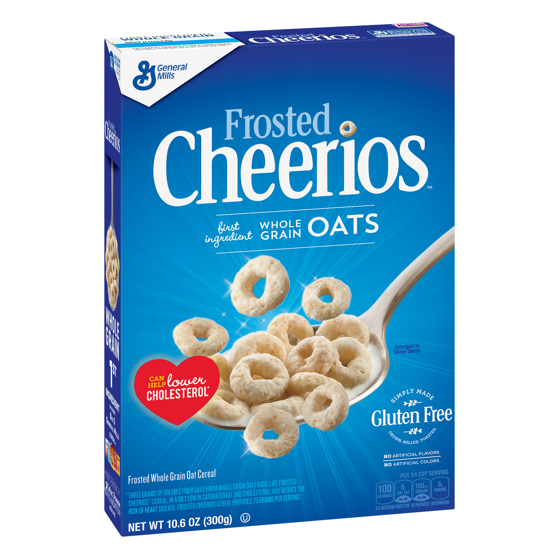 Frosted Gluten Free Cheerios Breakfast Cereal, 10.6 oz Box