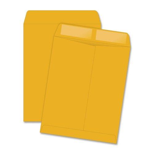 "Quality Park Catalog Envelope - Catalog - #98 [10"" X 15""] - 28 Lb - Gummed - Kraft - 250/box - White (QUA41765)"