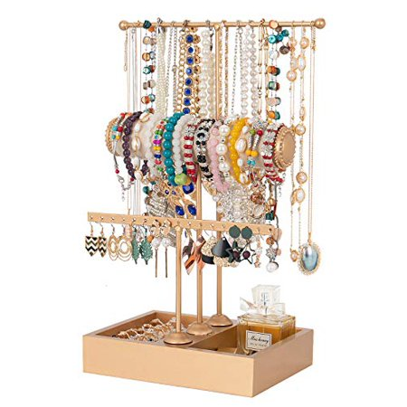 Jewelry Stand Gold Jewelry Organizer Jewelry Holder 3 Tier Jewelry Tree Stand Tower Rack Necklace Bracelet Holder Jewelry Display Stand Jewelry Tower with Ring Tray for Necklace Bracelets Watches Jewelry Stand Gold Jewelry Organizer Jewelry Holder 3 Tier Jewelry Tree Stand Tower Rack Necklace Bracelet Holder Jewelry Display Stand Jewelry Tower with Ring Tray for Necklace Bracelets Watches