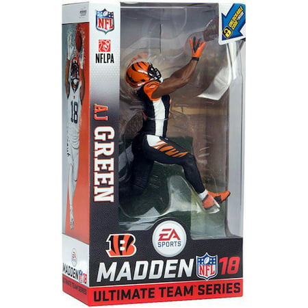Mcfarlane Nfl Ea Sports Madden 18 Ultimate Team Series 1 Aj Green Action Figure  Black Uniform Chase