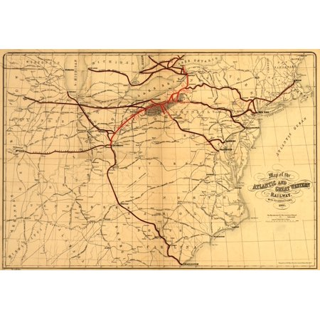 eastern United States from the Great Lakes to Charleston SC showing drainage cities and towns county boundaries and the railroad network main lines indicated in heavy red and black chartered in 1858 a](Party City In Charleston Sc)