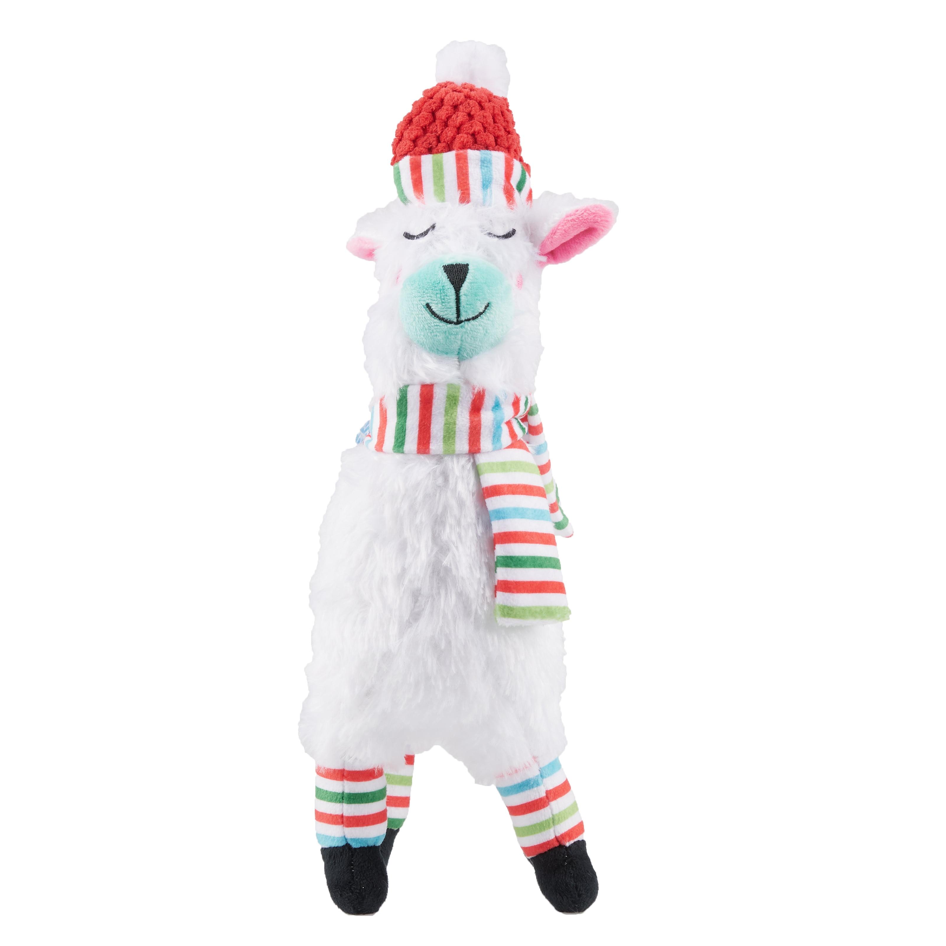 Winter Squeaky Plush Dog Toy, Llama with Stripes - Walmart com
