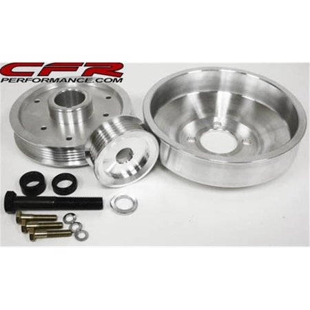 CFR HZ-02249-POL 5.0L Ford Mustang Cobra Gt 94-95 Billet Serpentine Pulley Set