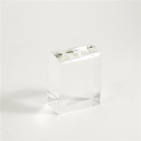 "Bey Berk Crystal 4 1/2"" Trophy With Etched Globe"