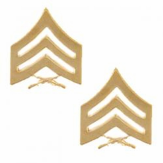 USMC Sergeant SGT 22k Gold Plated Chevron Rank Insignia