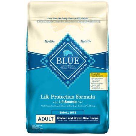 Blue Buffalo Life Protection Formula Adult Small Bite Chicken and Brown Rice, Dry Dog Food, 15-lb Blue Buffalo Adult Chicken