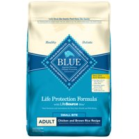 Blue Buffalo Life Protection Formula Adult Small Bite Chicken and Brown Rice, Dry Dog Food, 15-lb