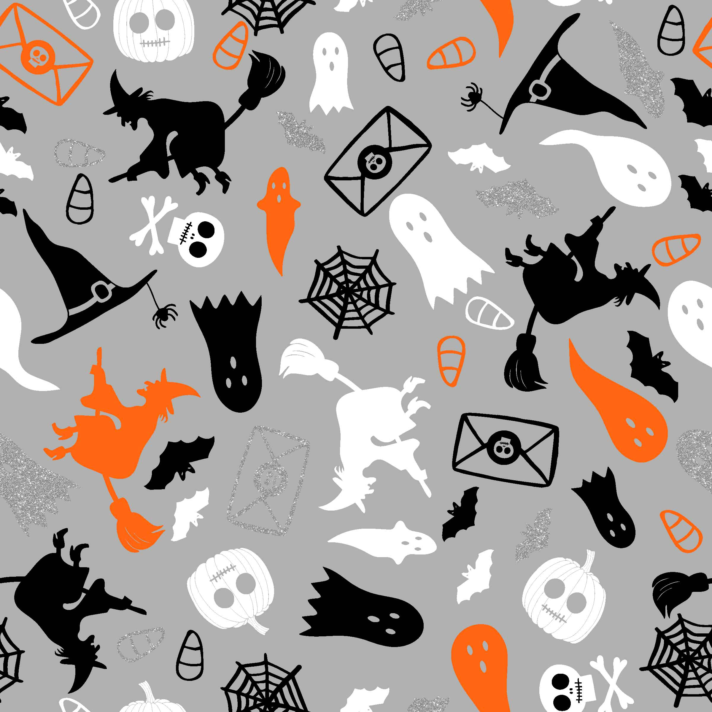 "FABRIC EDITIONS, COTTON FABRIC, FAT QUARTER 18""X21"", METALLIC, HALLOWEEN CHARACTERS"