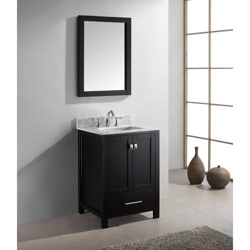 Virtu Caroline Avenue 25'' Single Bathroom Vanity Set with Mirror