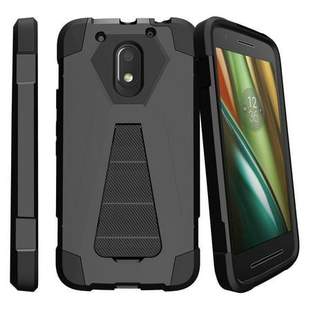 Motorola Moto E3 Case | Moto E 3rd Gen XT1700 Case  [Shock Fusion] Dual Layer Case with Built In Kickstand -