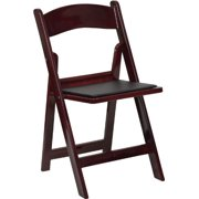 HERCULES Series 1000 lb. Capacity Red Mahogany Resin Folding Chair with Black Vinyl Padded Seat, Resin Folding Chair By Flash Furniture from USA