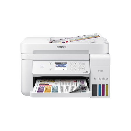 Epson EcoTank ET-3760 Wireless Color All-in-One Cartridge-Free Supertank Printer with Scanner, Copier, ADF and
