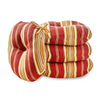 Greendale Home Fashions Roma Stripe 15'' Outdoor Bistro Chair Cushion, Set of 4