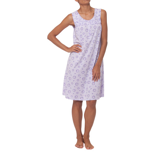 Simply Basic Women's Sleeveless Print Nightgown