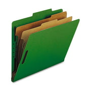 Nature Saver 2-divider Letter Classification Folders, Green, 10 / Box (Quantity)
