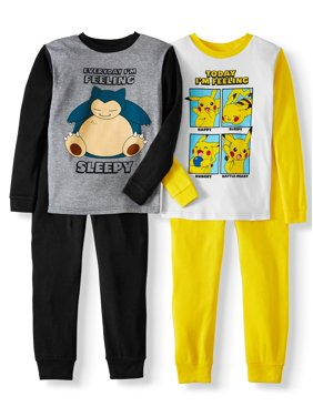 Boy's pokemon 4pc long sleeve pajama set (little boy & big boy)