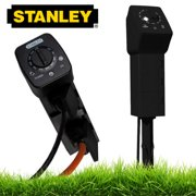 Stanley Black Outdoor Plug Bank 3-Outlet Countdown Ground Stake Timer