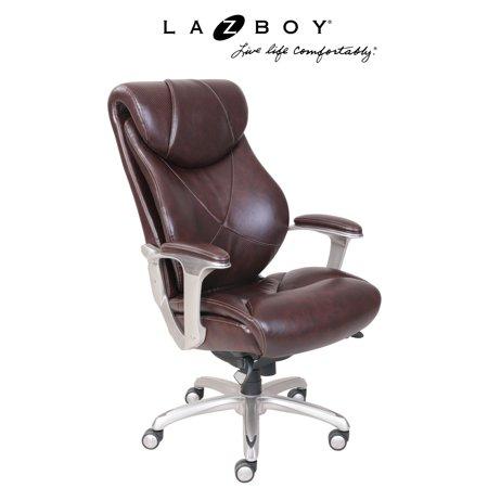 La Z Boy Cantania Executive Office Chair   Coffee
