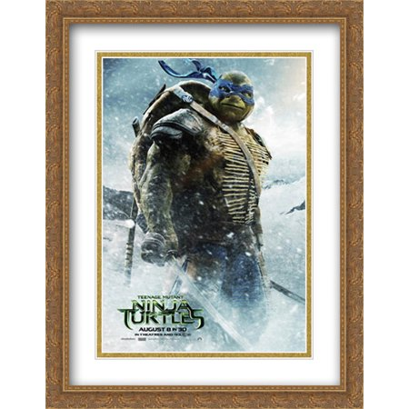 Teenage Mutant Ninja Turtles 28x36 Double Matted Large Large Gold Ornate Framed Movie Poster Art Print - The Gold Ninja