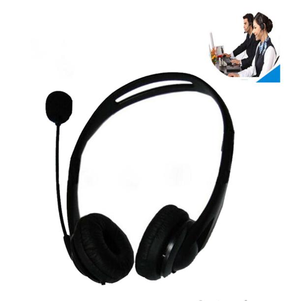 Office Computer Telephone Wired Headset Usb Noise Reduction Microphone Headset Walmart Com Walmart Com