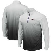 LSU Tigers Colosseum Magic Team Logo Quarter-Zip Jacket - Gray