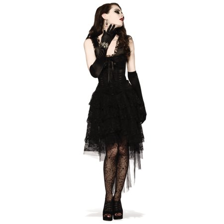Black As Night Witch Vampire Gothic Lace Dress Halloween Costume-Std - Halloween Is Black As Night Chords