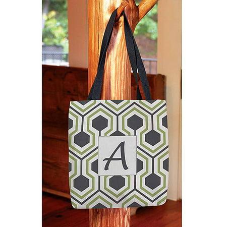Honeycomb Monogram Tote Bag - Cheap Monogrammed Tote Bags