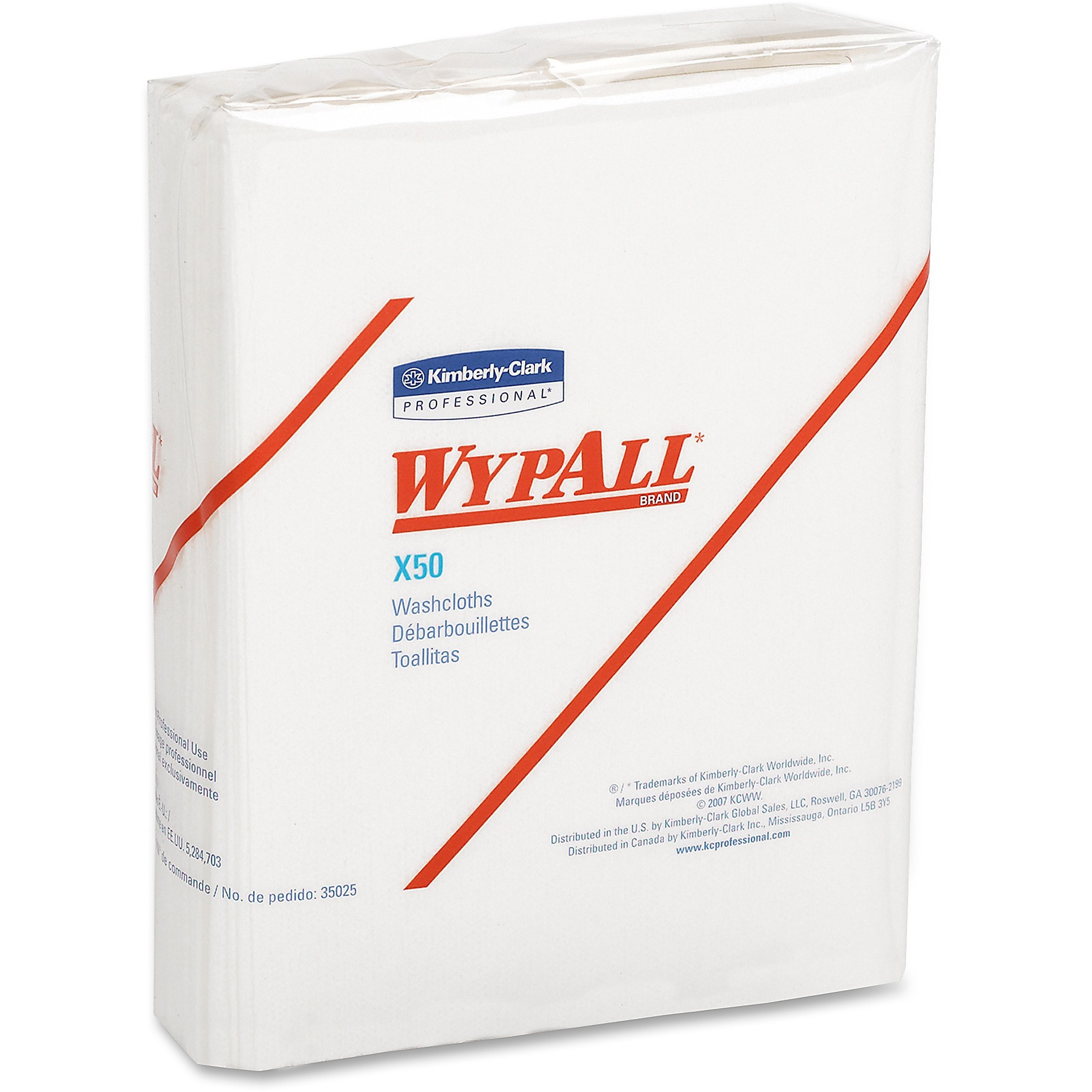 Wypall, KCC35025, Kimberly-Clark WypAll X50 Folded Wipers, 832 / Carton, White