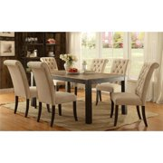 Furniture of America Lexon Metal 7-Piece Dining Set in Beige