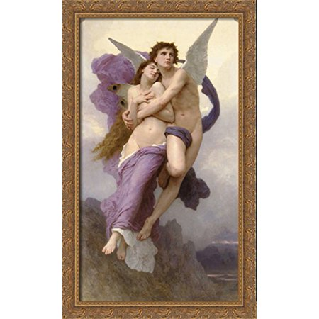 The Abduction of Psyche 24x40 Large Gold Ornate Wood Framed Canvas Art by William Adolphe Bouguereau