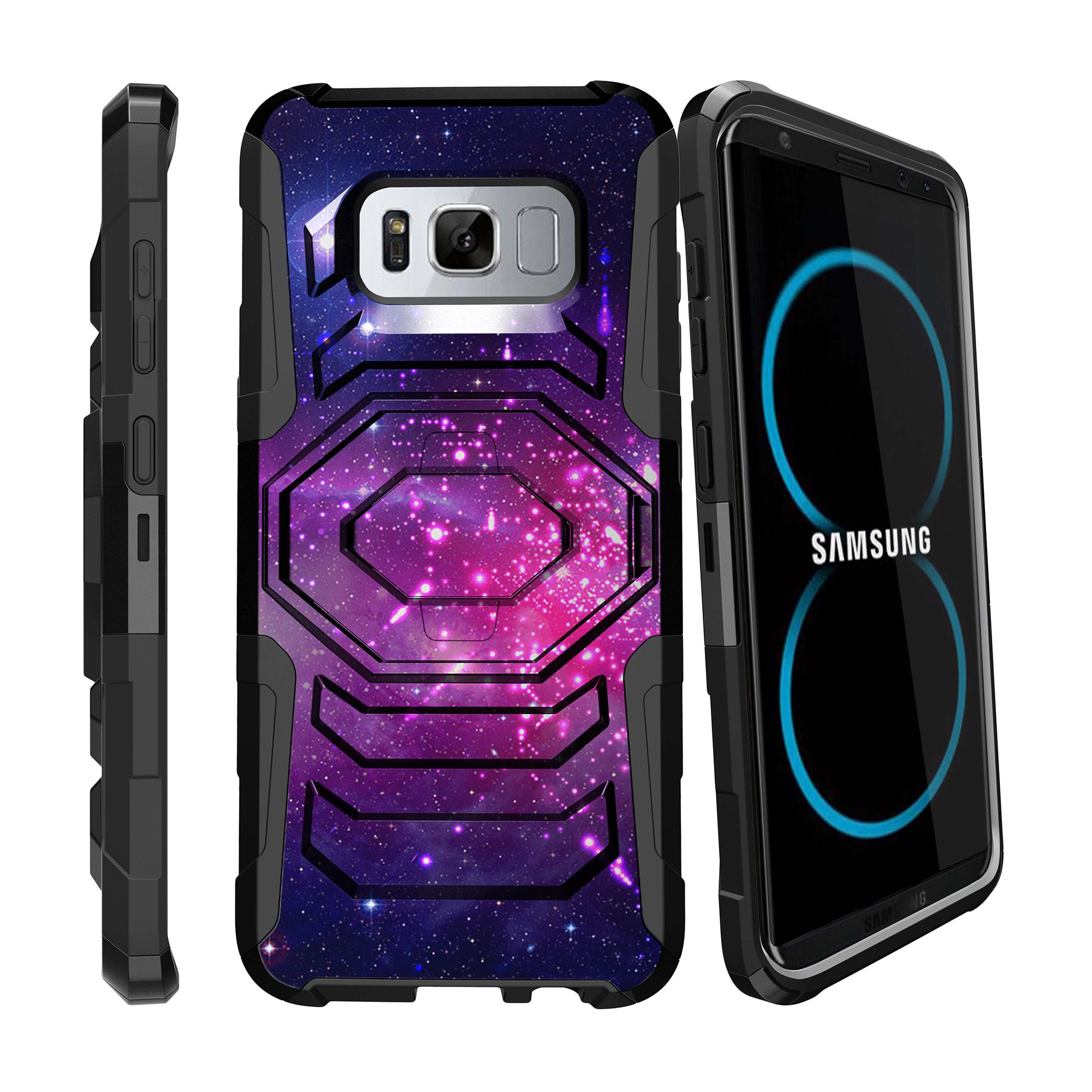 Case for Samsung Galaxy S8 | S8 Galaxy Hybrid Case [ Armor Reloaded ] Heavy Duty Case with Belt Clip & Kickstand Galaxy Collection