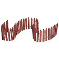 Lemax 84813 WIRED WOODEN FENCE Christmas Village Scenery S O G Scale