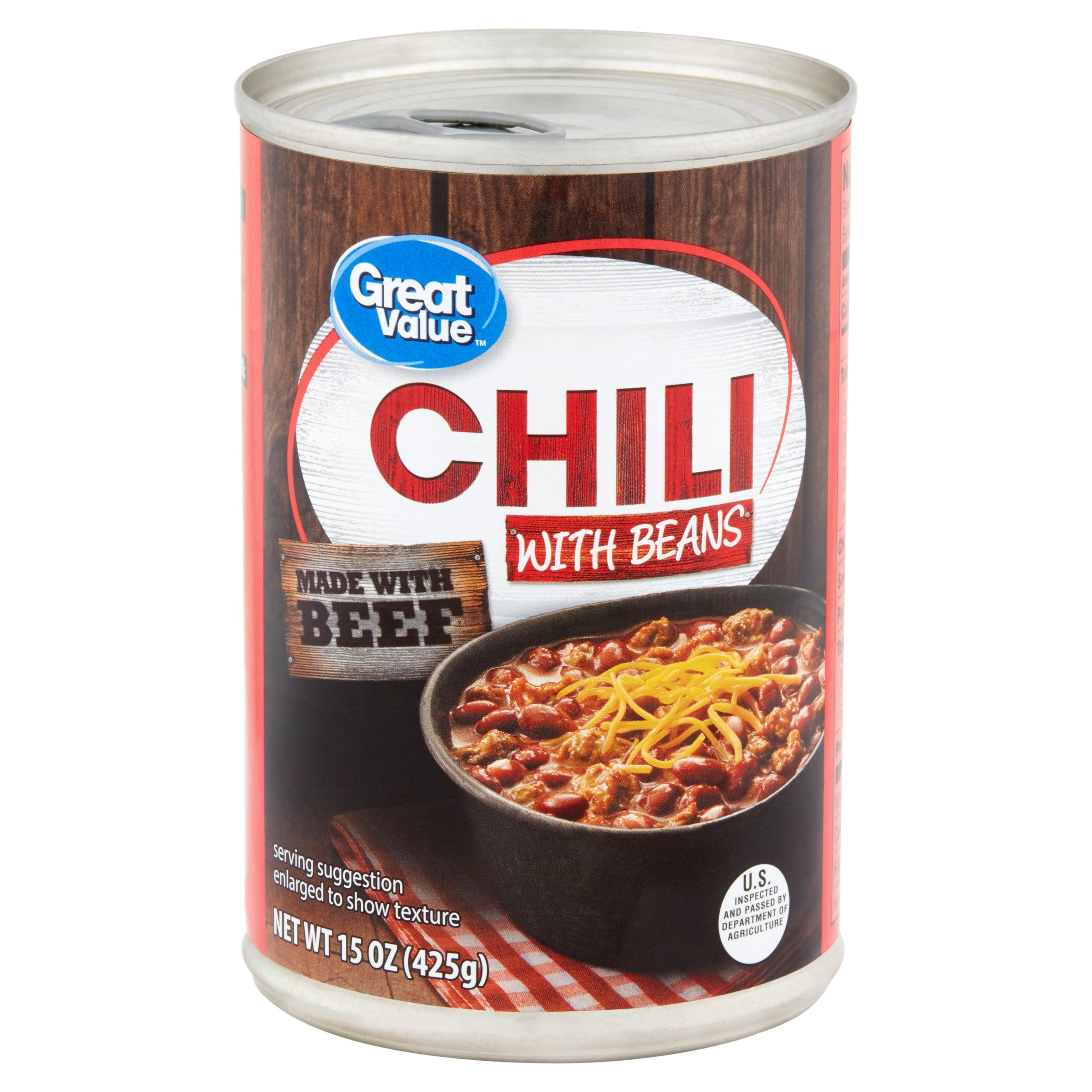 Great Value Chili w/Beans, 15 oz
