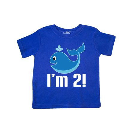 2nd Birthday Whale 2 Year Old Boy Toddler T-Shirt