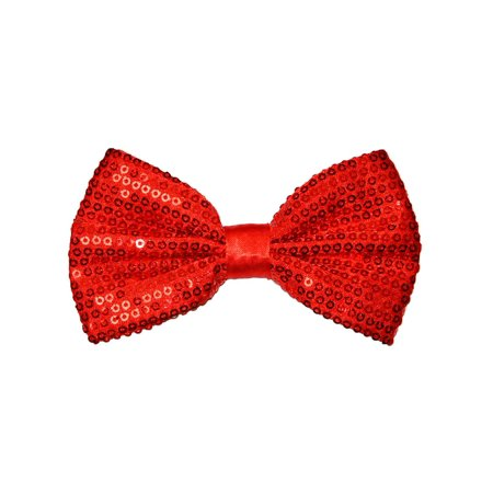 Pre-tied Bow Tie in Coool Brand Gift Box- Red Sequins (Sequin Bowtie)