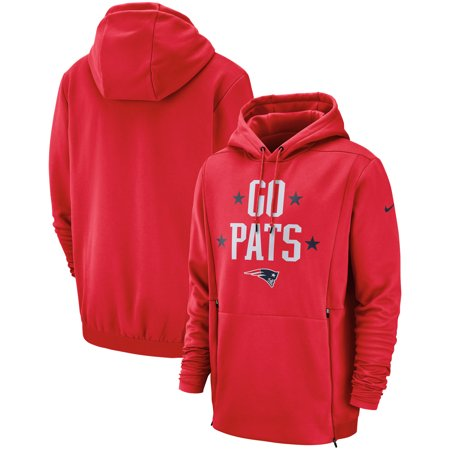 buy popular 86f5e 62f48 New England Patriots Nike Sideline Local Lockup Pullover Hoodie - Red