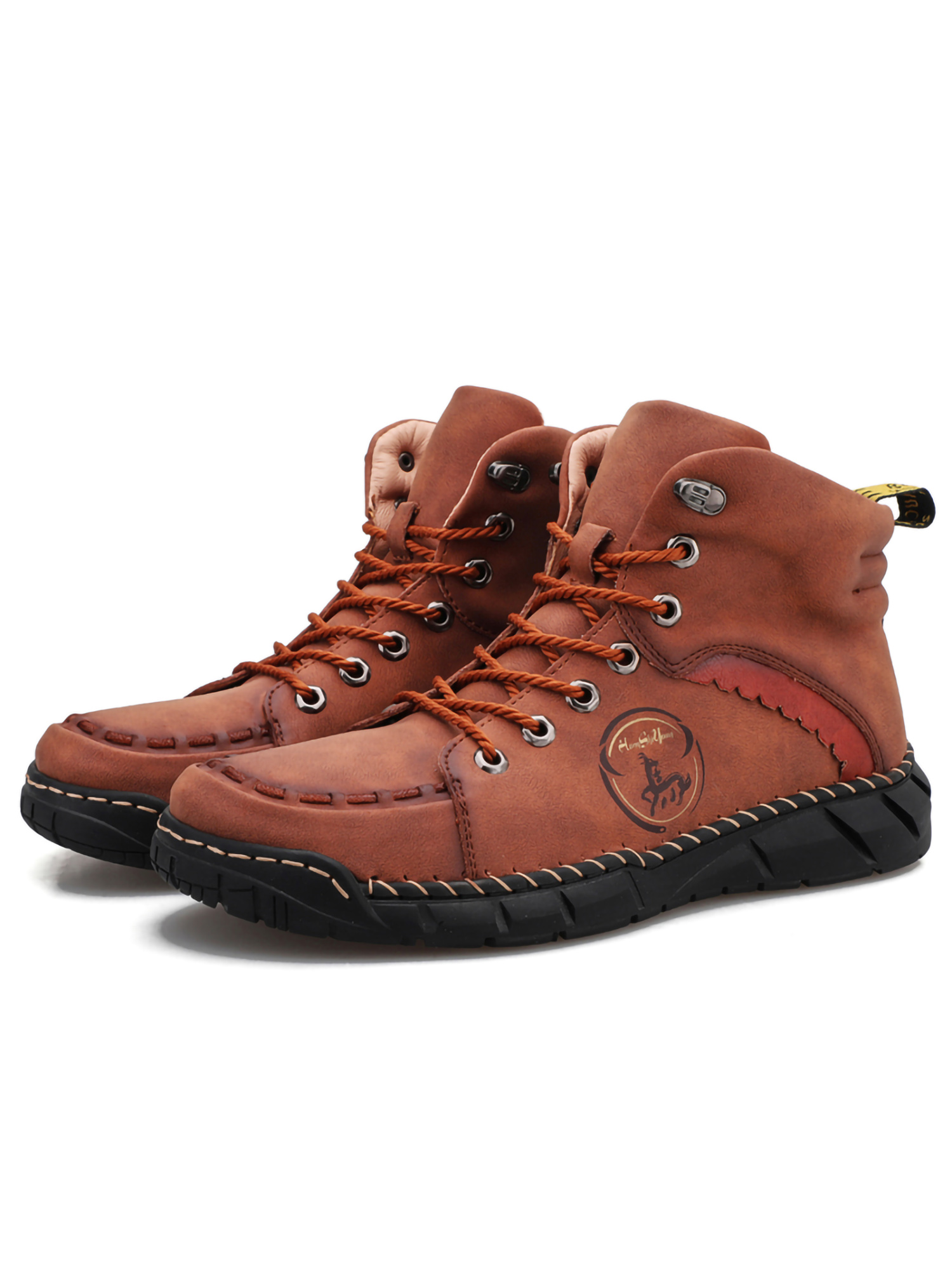 BOYS BLACK LACE UP CASUAL WINTER HI TOP ANKLE DESERT WALKING BOOTS SHOES SIZE