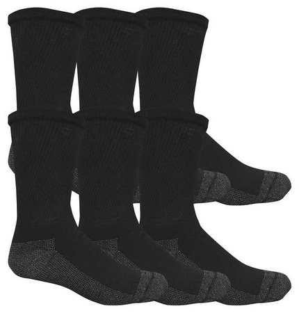 M8921B6-12-SP Socks,Mens,10-13,Black,PK6 G9057081