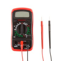 Digital Multimeter with Backlit LCD Display and Needle Probes- Amp, Ohm and Voltage Tester for Outlets, Wire Continuity and Batteries by Stalwart