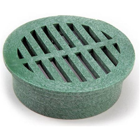 13 4 in. Green Round Structural Foam Polyolefin Grate ()