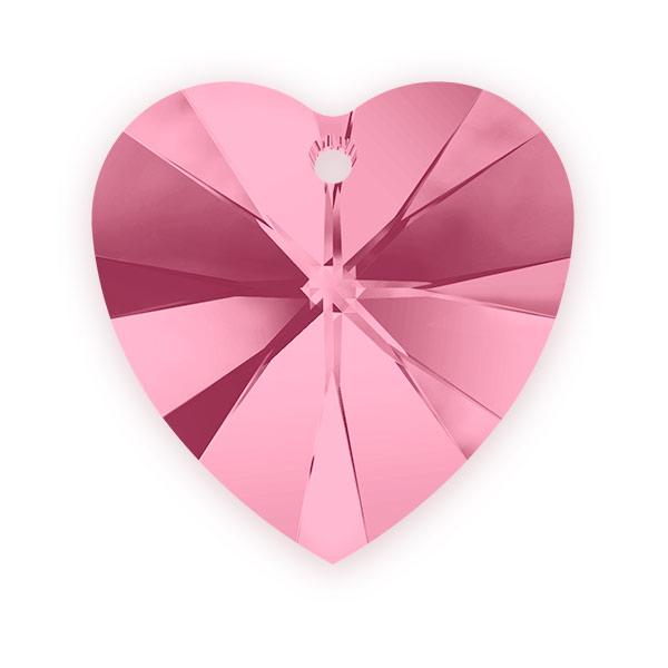 Swarovski Heart Pendant 6228 18mm Light Rose (Package of 1)