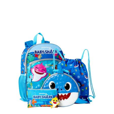 Baby Shark 5 Piece Backpack Set