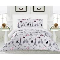 Linen Plus 3 Piece White Paris Flannel Borrego Sherpa Blanket Queen Size 6 lbs