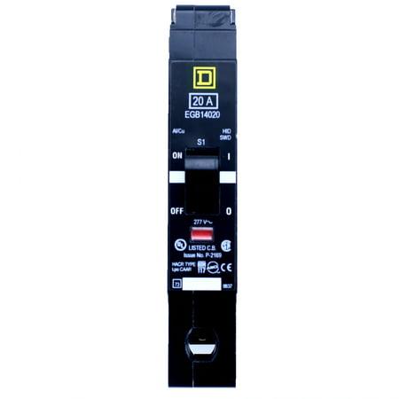 Square D EGB14020 1 POLE 20 AMP 277V 35KA Thermal Magnetic Circuit Breaker ()
