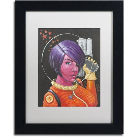 Trademark Fine Art 'Josie-Jupiter' Canvas Art by Craig Snodgrass, White Matte, Black (Jupiter Matte)