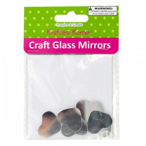 Small Heart Shape Craft Glass Mirrors